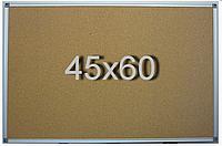 Доска пробковая  в алюминиевой раме 45х60см, фото 1