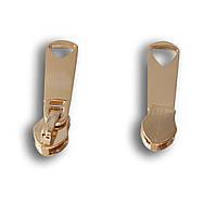 Бегунок спираль, без фиксатора №5 (золото)