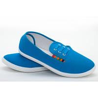 Мокасины женские голубые полоска Гипанис  s - 14