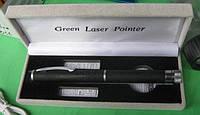 Лазерная указка зеленая на 5 насадок (green laser pointer)