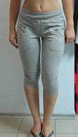 Женские бриджи Adidas (2247) светло-серые код 0129 Б