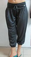 Женские бриджи Adidas (35463)  серые код 0145 Б