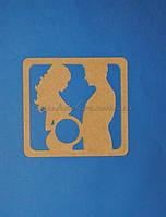 Рамка для снимка УЗИ (материал МДФ) заготовка для декупажа и декора