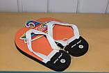 Шлепки сланцы на мальчика 28-35 р SUPER GEAR  Венгрия,цвета желтый,синий,оранжевый., фото 6