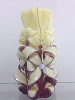 Свеча резная большая SRXL - 01 (Цвет вишня с ванилью)