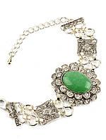 Модный браслет с камнем нефрита