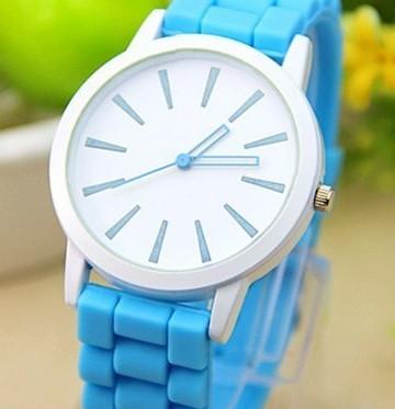 Часы Geneva (light blue) - гарантия 6 месяцев