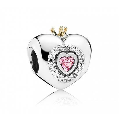 Шарм «Сердце принцессы» с золотом 585