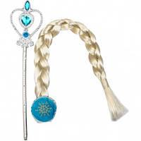 Набор Frozen блондинка (диадема,коса,жезл)
