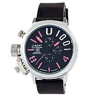 Мужские механические наручные часы U-Boat Italo Fontana U-1001 на каучуковом ремешке