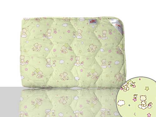 Одеяло шерстяное детское (зеленое)