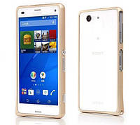 Бампер для Sony Xperia Z3 Compact D5803 Gold