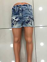 Детские джинсовые шорты  для девочек 8-12 лет