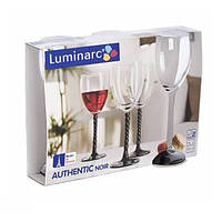Набор бокалов для вина Luminarc Authentic Black 250 мл 3 шт  tp5654h