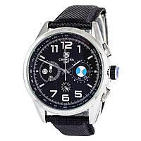 Мужские кварцевые наручные часы хронограф Tag Heuer BMW Power Carrera GMT Chronograph на синтетическом ремешке