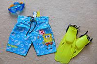 Детские пляжные шорты для мальчика Губка Боб, плавки шорты детские