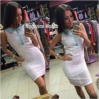 Модное женское платье из  прошвы (3 цвета)