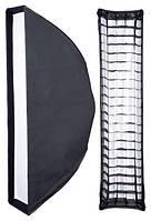 Софтбокс 20 х 90 см FreePower с двойным диффузором и сеткой