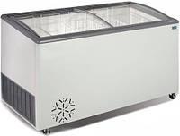 Морозильна скриня (лар) з гнутими розсувними скляними стулками CRYSTAL VENUS 56 SGL  (Греція)