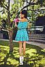 Платье женское  горох с поясом, фото 3