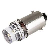 Светодиодная лампа цоколь T4W BA9s 1-LED вогнутая, 12В