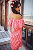 Платье женское  горох с валаном, фото 2