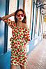 Платье женское  с поясом клубника, фото 3