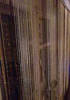 Шторы нити с люрексом радуга 07