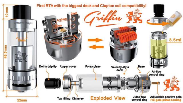инструкция GeekVape Griffin RTA