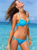Лазурный купальник Victorias Secret с рюшами VS0254