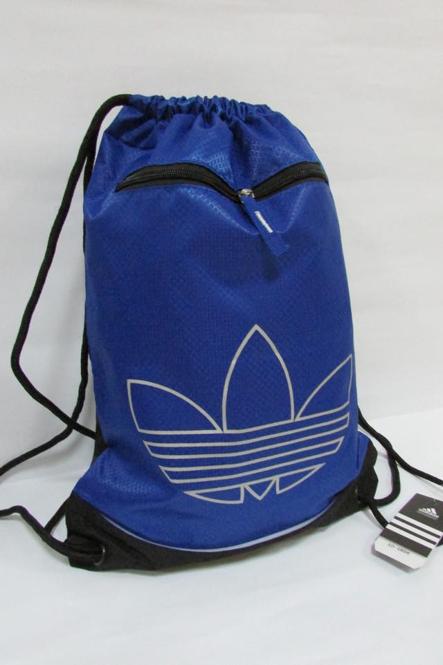 6ec495615e07 Рюкзак-мешок обувной тонкий Adidas (486) голубой с черным код 0308А ...