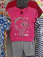 Комплект футболка и бриджи для девочки Cat р. 26-30