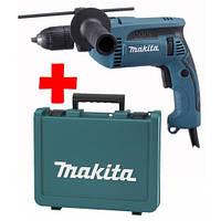 Ударная дрель Makita HP1641К+кейс (680Вт; 0-2800об/мин; 0-44800уд/хв)