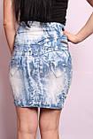 Женская джинсовая юбка с высокой талией, фото 3