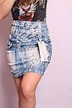 Женская джинсовая юбка с высокой талией, фото 5