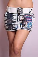 Женская джинсовая юбка короткая