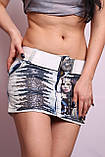 Женская джинсовая юбка короткая, фото 4