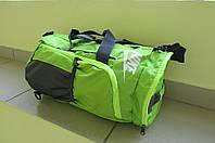 Сумка рюкзак N (88020) салатовая с серым код 0318А