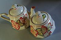 Набор Красный цветок(чайник и сахарница)