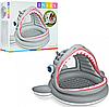 Детский надувной бассейн с навесом Акула Intex 57120