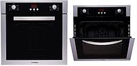 F 64 EIX-P (600 мм. 6 программ) встраиваемая, электрическая духовка цвет нержавеющая сталь / черное стекло, фото 1