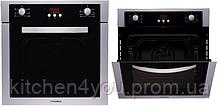 F 64 EIX-P (600 мм. 6 програм) вбудовувана, електрична духовка колір нержавіюча сталь / чорне скло