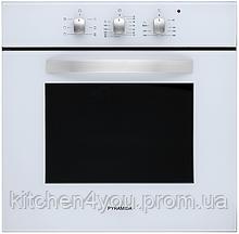 Pyramida F 60 TMR white (600 мм. 6 программ) встраиваемый, электрический духовой шкаф белое стекло