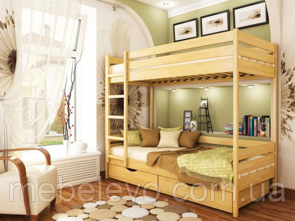 Кровать двухъярусная деревянная Дуэт 80 1500х860х1980мм   Эстелла