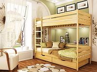 Эстелла деревянная кровать двухярусная Дуэт 80 1500х860х1980мм