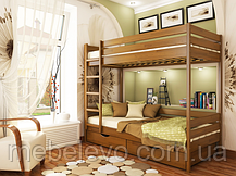 Кровать двухъярусная деревянная Дуэт 90 1780х960х1980мм   Эстелла, фото 2
