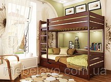 Кровать двухъярусная деревянная Дуэт 90 1780х960х1980мм   Эстелла, фото 3