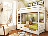 Кровать двухъярусная деревянная Дуэт 90 1780х960х1980мм   Эстелла, фото 4