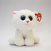"""М'яка іграшка Біла Кішка """"Pearl"""" TY 15см"""