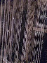 Шторы нити с люрексом радуга черно-белые, фото 3